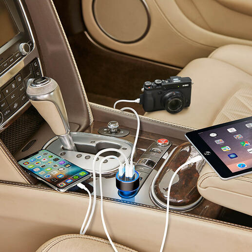3-Port USB High-speed Charger - The new generation high-speed car charger: Up to 4 x faster.