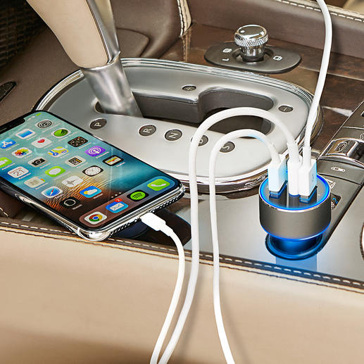 3-Port USB High-speed Charger The new generation high-speed car charger: Up to 4 x faster.