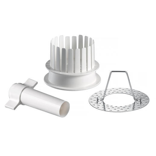 3-piece set consisting of cutter, cutting aid and stainless steel holder.
