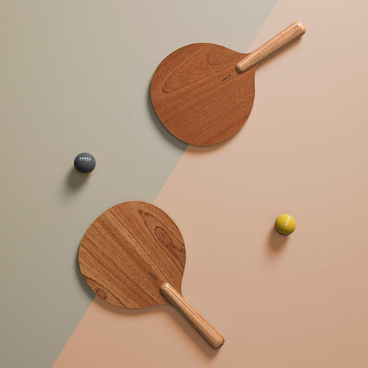 Beach Bat & Ball Set, Set of 2, Brown