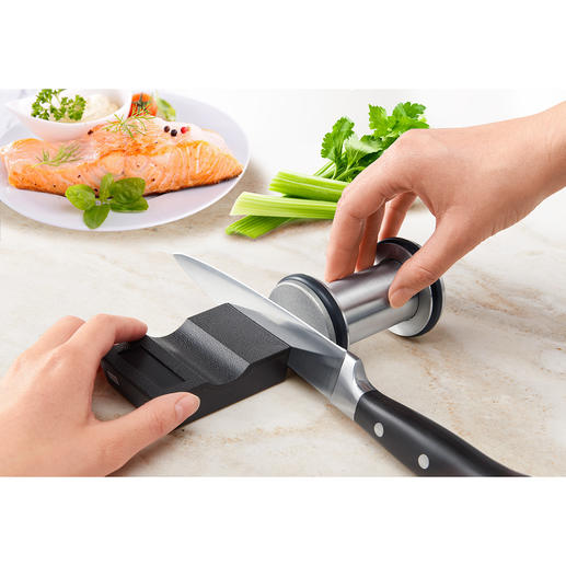 Diamond Knife Grinder, 2-piece Set Sharpen knives without practice: Professional, safe and fast.