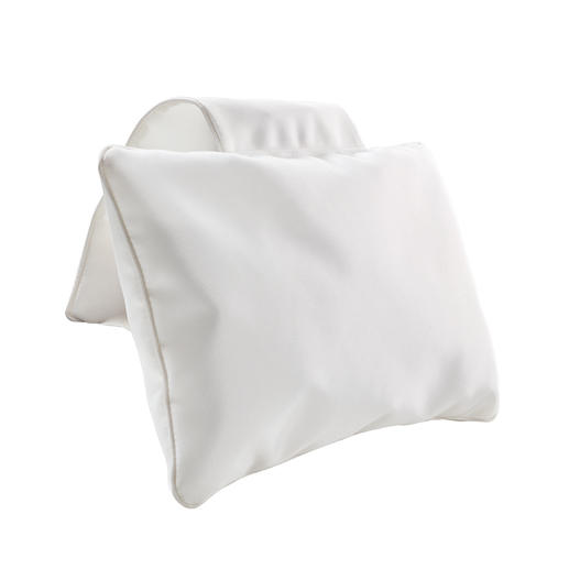 Bath Pillow with counterweight, White