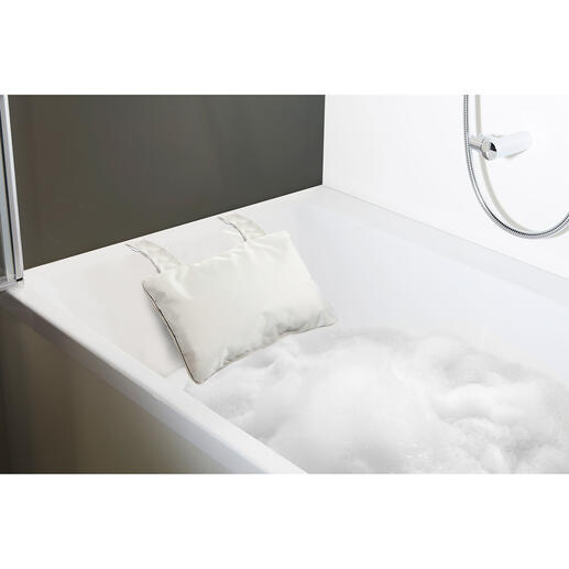 For built-in baths, choose the pillow with suction cups.