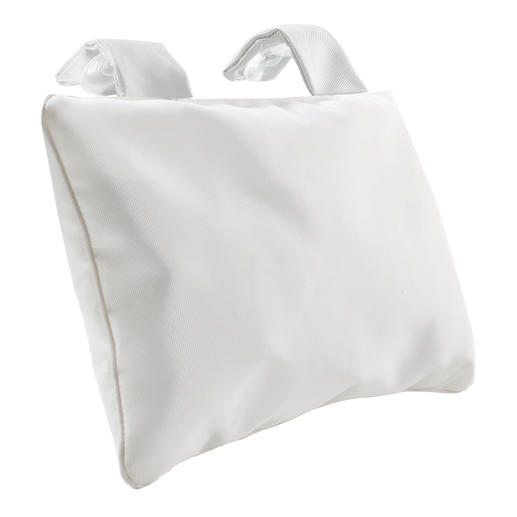 Bath Pillow with suction cups, White