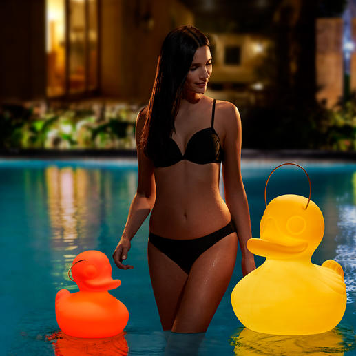 The Duck Duck Lamp™ Fascinating, battery-operated interplay of light. Great fun for both indoors or outdoors, the ultimate pond or pool accessory.