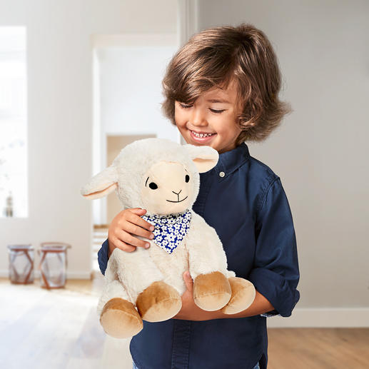 Swiss Pine Plush Cow or Swiss Pine Plush Sheep Swiss pine soft toys helps children sleep deeply and peacefully.