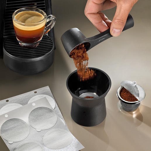 Reusable Coffee Capsule Set, 8 Pieces Enjoy capsule coffee in an environmentally friendly way.