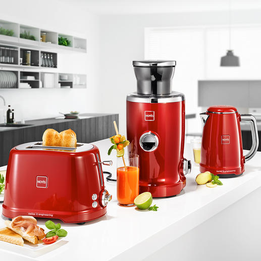 Novis Juicer, Electric Kettle or Toaster Iconic KTC1 - Award-winning breakfast series in premium quality from Novis, Switzerland. Iconic design. Rock-solid processing. Technical perfection.