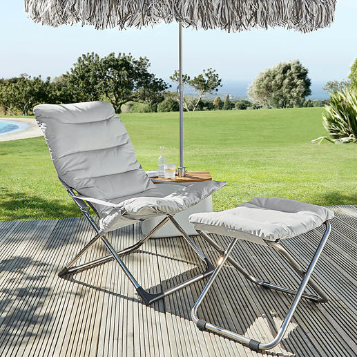 Fiam Folding Chair or Footstool Beautiful Italian design. And foldable: Perfect garden chair for terrace, garden, pool, ...