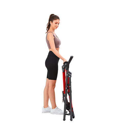 The inversion trainer can be stowed in no time after your workout to save space.