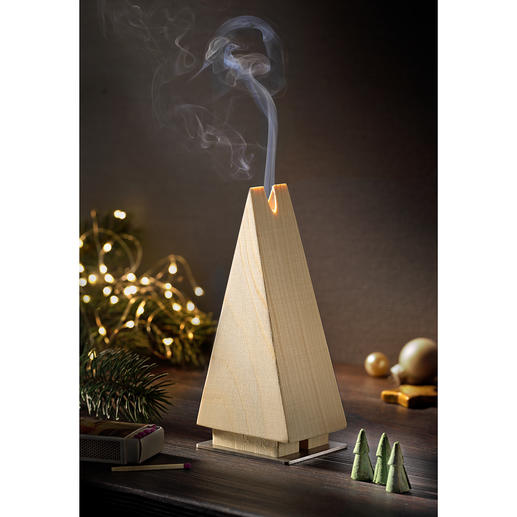 Incense Burner Fir Tree Incense burner in the shape of a fir tree made of spruce wood: The most beautiful Christmas tradition in a clean-cut shape.