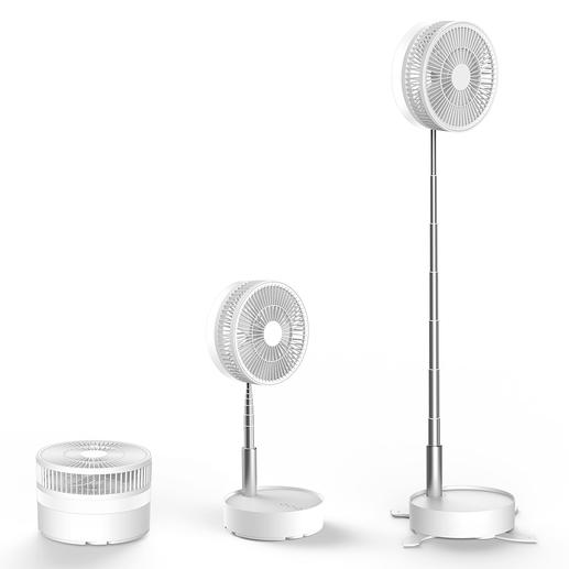 Infinitely height adjustable. Table or floor fan as required.