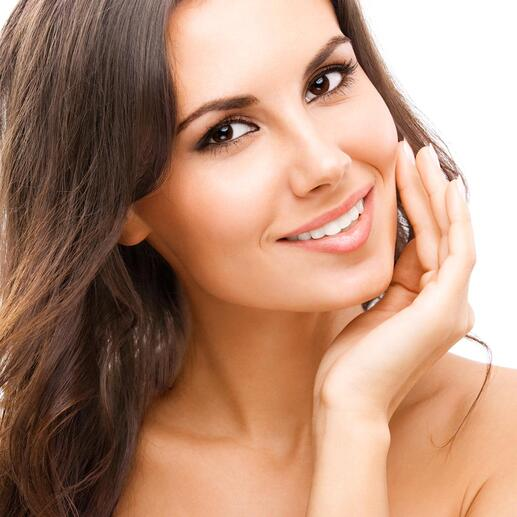 An optical brightener makes your teeth appear whiter in an instant.
