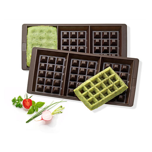 Silicone Waffle-Baking Pan, Set of 2 Pieces