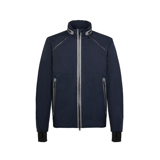 Geox Men's XLED Jacket - Better visibility for added safety: The Geox illuminated jacket with LED light strands.
