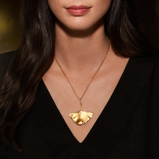 Ginkgo Necklace, Gold
