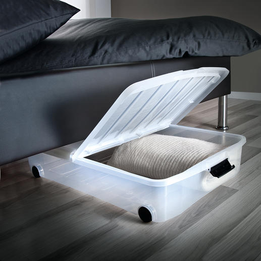 Underbed Box with folding lid, Set of 2 - Underbed box with folding lid. At an astonishingly reasonable price.
