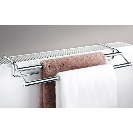 Radiator Towel Rail Finally an elegant towel rail that fits almost any radiator.
