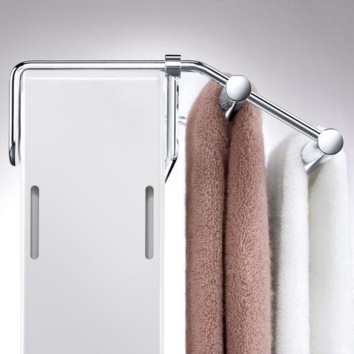 With the easily adjustable bracket you can adjust the rail to the depth of the radiator exactly.