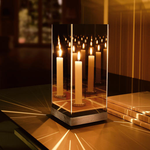 Enchanting Mirrored Light - Perplexingly beautiful effect – with just one candle.