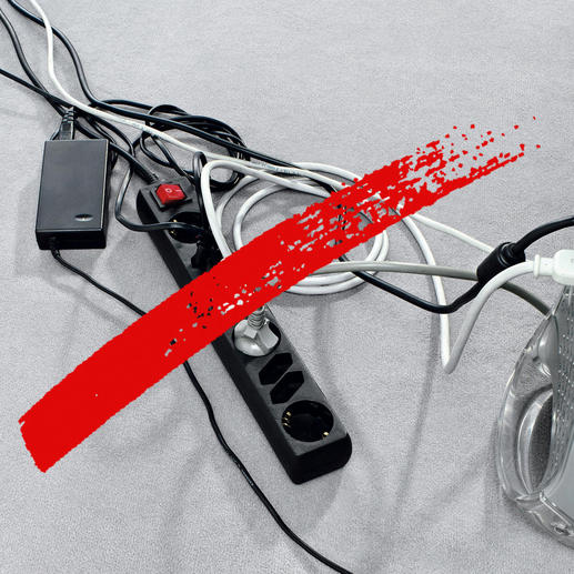 Get rid of tangled cables and exposed multisockets.