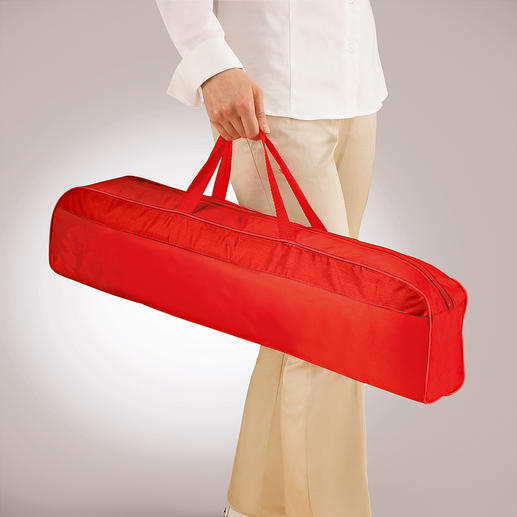 "Your mosquito net is easy to transport in the incl. 66cm (26"") long carry case."