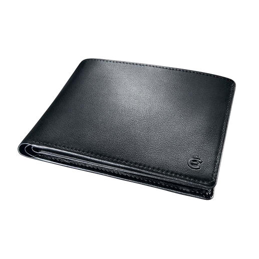 Pleasantly flat (2 cm/0.8″) so the leather wallet is comfortable to wear in any pocket – without bulging.