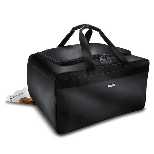 Box Shaped Travel Bag Resilient. Extremely spacious. Makes the most of your car boot.