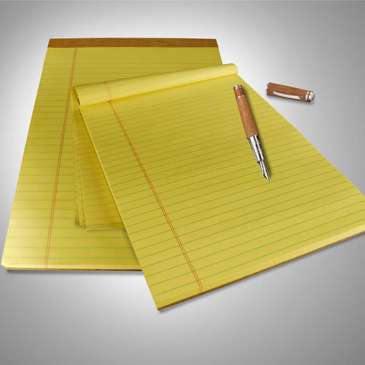 Original U.S. Legal Pads, 9 Pads @ 100 pages - At least 4 good reasons to use these notepads.