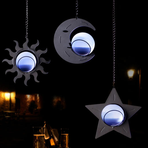 Celestial Solar Lights, Set of 3 No electricity. No cables. No operating costs thanks to free solar power.