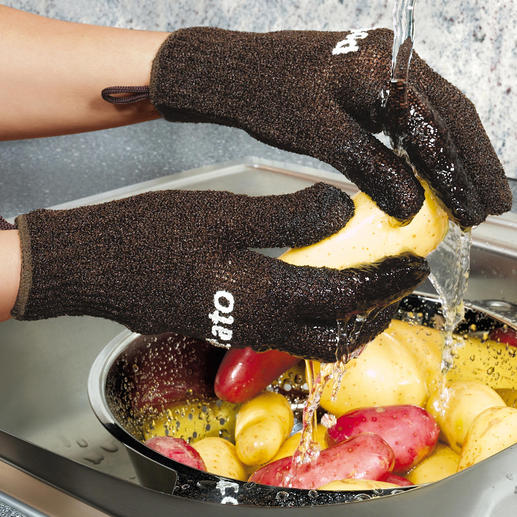 Potato gloves for adults and children The cleverest invention since potatoes.