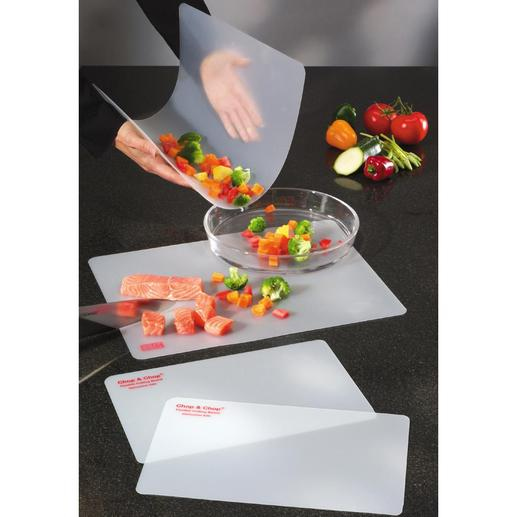 Flexible Chopping Boards, Set of 4 Transfers all your chopped ingredients directly into the saucepan, frying pan or dish, without spills.