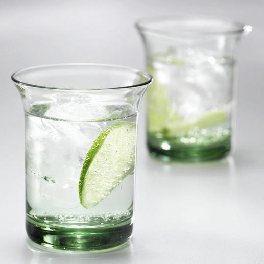 Goethe Water Tumblers, Set of 2 or Set of 6 Glass water tumblers from the private property of J. W. Goethe. True to the original.