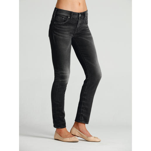 Silver® Jersey Jeans™ Authentic jeans appearance, but with a yoga trousers feel.