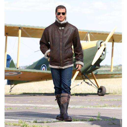 "Lambskin Flying Jacket ""B3"" A legend: The B3, the flying jacket of the US Army Air Corps of 1934."