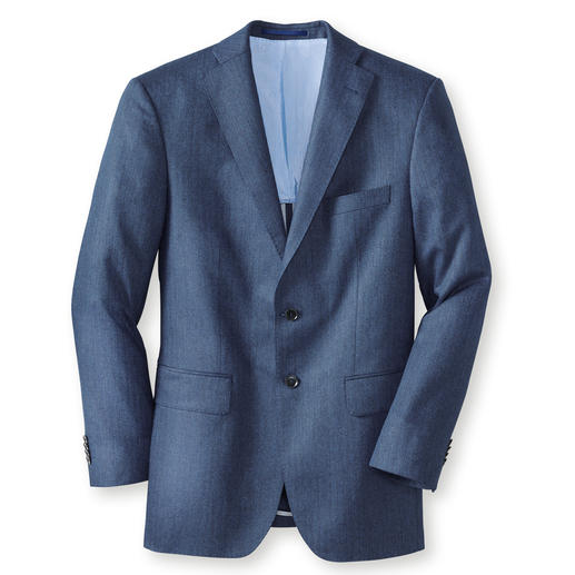 Di Pray Silk Jacket, Herringbone, Blue Ideal for summer – the jacket in pure silk. Its subtle colours suit all plain colours.