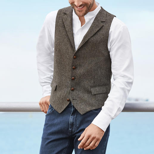 Barutti Tweed Waistcoat The perfect single piece: The tweed waistcoat made of pure virgin wool – on both sides.