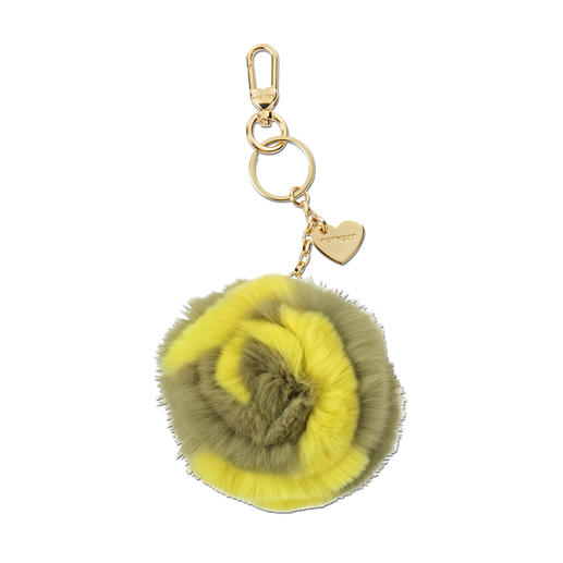 """Twinset Fur Hanger """"Flower"""" or """"Rose"""" So on-trend: Fluffy fur bobble for bags and keys. Wear the signature style of Twin-Set."""