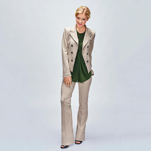 Plein Sud Jeanius Blazer Top The perfect blazer top: Elegant, airy, comfortable and completely uncomplicated.