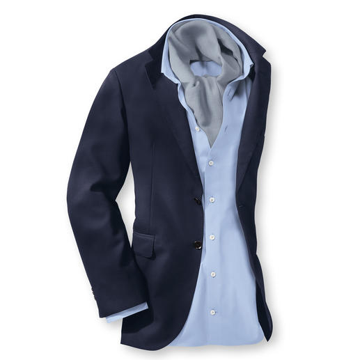 """""""Super 130"""" Climate Sports Jacket With 1,300,000 woven pores, your respectable blue sports jacket is ideal for the summer."""