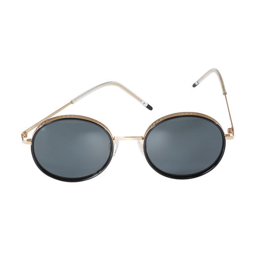 Joop! Sunglasses Round Design 3-in-1 2019 trends: Round retro shape, thick gold frame, modern ultra-light arms. By JOOP!.