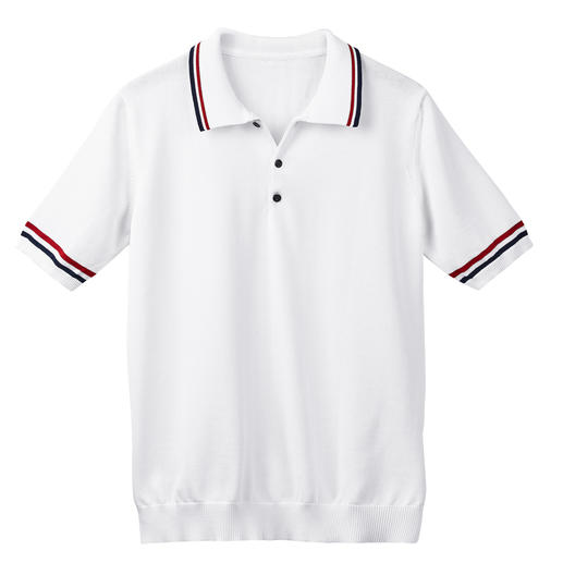 Fine Knit Tennis Polo Shirt The elegant version of the knitted tennis style polo shirts. Airy fine knit made of triple finished cotton.