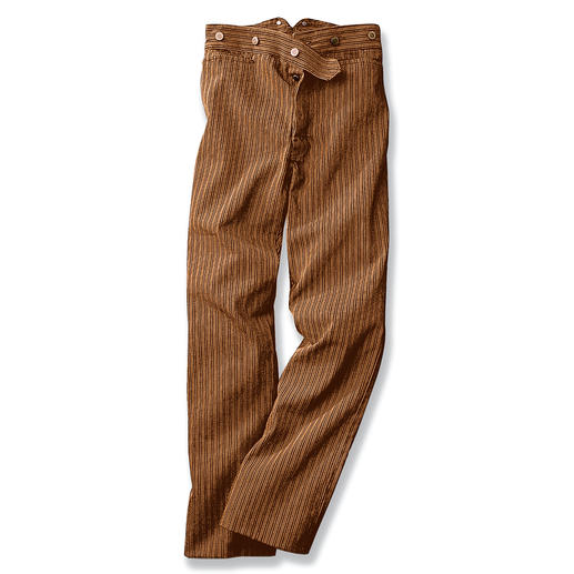 The trousers worn by gold miners. Discovered in the wilds of Arizona.