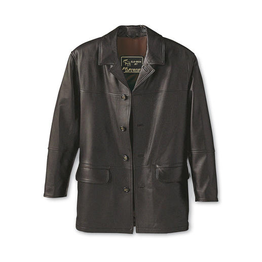 Elk Leather Jacket - Timeless, beautiful jacket from unusual elk leather. Each one unique and as soft as butter.