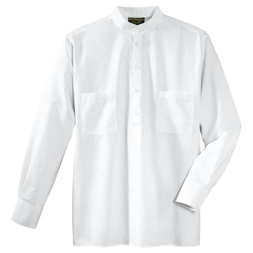 Nehru Shirt Hollington's original stand-up collar shirt.