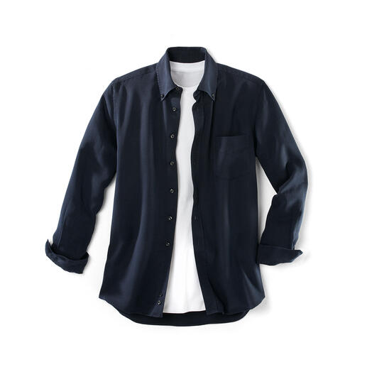 "Tencel® Denim Shirt - You'll love this ""denim"" shirt both on hot and cold days. Much softer than denim."