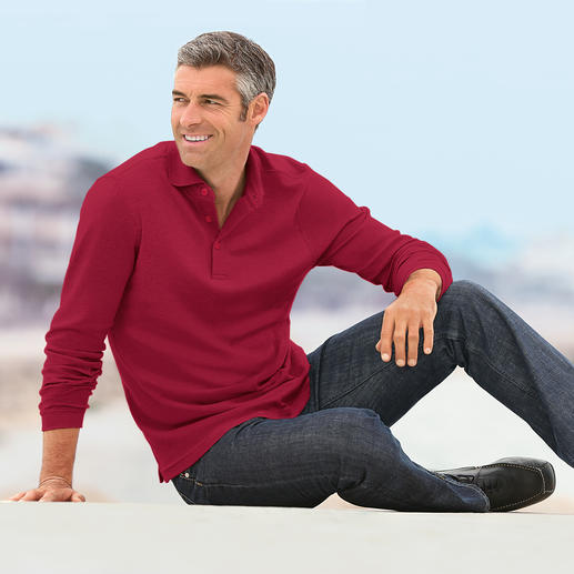 Your luxury long sleeved polo shirt. Your luxury long sleeved polo shirt.