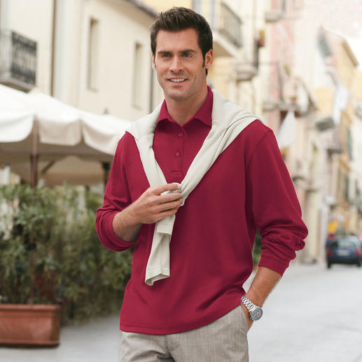 Pima Interlock Polo Shirt Your luxury long sleeved polo shirt.