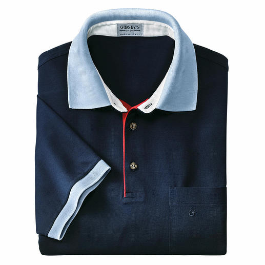 "The original Goosey's polo shirt – a golfing favourite for over 60 years. Made in Mortara/Italy. In ""filo di Scozia®"" cotton."
