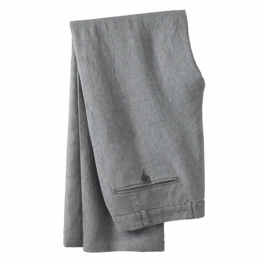 Ormezzano Linen Trousers Ormezzano in Italy weaves cool linen that is suitable even for formal business trousers.